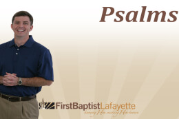 PSALM 81 - The Psalm of the Satisfied